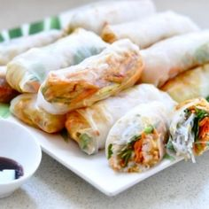 Perfect picnic food for all ages. Healthy, and delicious Vietnamese fresh spring rolls.