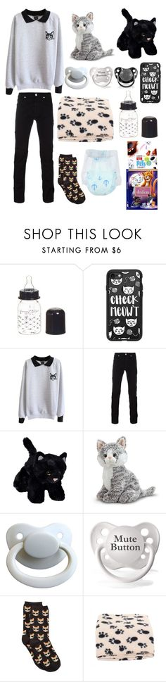 """Kitties! (cgl, cglre)"" by transboyfanboy ❤ liked on Polyvore featuring Giorgio Armani, Casetify, Versace and HOT SOX"