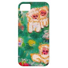 Little Lamb Playing in the Flowers Case For iPhone 5/5S by artist Marie-Jose Pappas of Innocent Originals