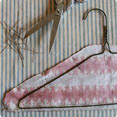 Clothes Hangers - made with love: fabric covered hangers   Design*Sponge