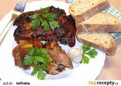 Česnekové koleno recept - TopRecepty.cz Tandoori Chicken, Steak, Pork, Ethnic Recipes, Kale Stir Fry, Steaks, Pork Chops, Beef