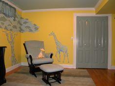 nurseries | Giraffe Themed Yellow Nursey Designed by ColorTHEORY. jungle baby ...