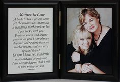 5x7 Double Hinged MOTHER-IN-LAW Poem ~ BLACK Picture/Photo Frame ~ A Wonderful Gift Idea for the MOTHER-IN-LAW OF THE BRIDE!