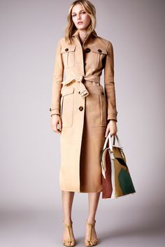 Burberry Resort 2015 Fashion Show - Marique Schimmel