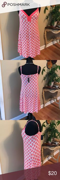 Tart Intimates Nighty XL NWT Tart Intimates Nighty XL NWT.  This Beautiful Coral Nighty is perfect for summer nights. Sexy & Comfortable. Made By Tart Brands. Fabric I has stretch. Straps are adjustable. 🚫trades. Please ask all questions prior to buying Tart Intimates & Sleepwear Chemises & Slips