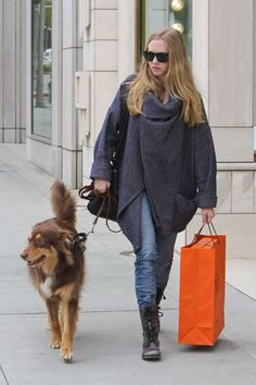 Amanda Seyfried...I love that she always has her dog with her.