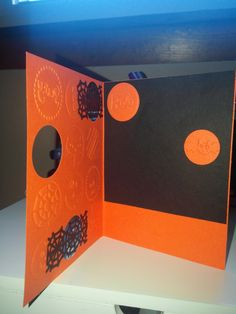 I made this set of Halloween cards to be opened by the recipients in a staggered event.  I mailed all 4 and put specific dates for tgem to b...