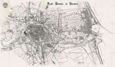 Map of Valencia, 1907 Valencia, Map Design, Typography, Modern, Outdoor, Inspirational, Maps, Romans, Antigua