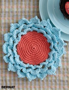 Spring Flower Coaster... Free pattern!