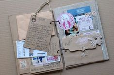 DIY Crafts | Vintage Style Scrapbook | This has given me great inspiration for my own scrapbook #scrapbookcrafts