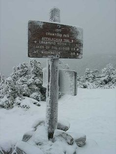 'Sign Post on Mt. Pierce,' Crawford Path, Appalachian Trail (AT), New Hampshire, USA | Inge Knudson, on Flickr. #at #appalachian #trail #hike #hiking #hiker #mount #mt #pierce #new #hampshire #sign #post