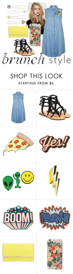 """""""brunch"""" by shafirapramesi ❤ liked on Polyvore featuring Mystique, Tattly, Anya Hindmarch, Henri Bendel, Rifle Paper Co, Accessorize and brunch"""