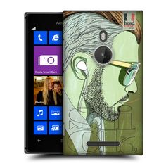 Head Case Slicked Back Lineart Hairstyle Back Case Cover For Nokia Lumia 925