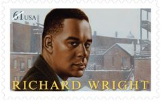 African-American author Richard Wright, whose books Native Son and Black Boy. Richard Wright Author, Paris France, African American Literature, Native Son, Commemorative Stamps, Susa, Mint, Stamp Collecting, Postage Stamps