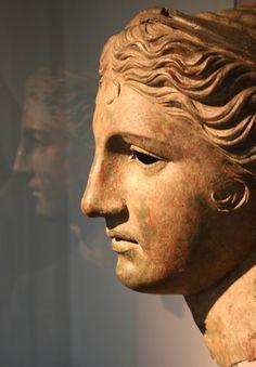 Hellenistic bronze head of Anahita ~ Aphrodite ~ Artemis -
