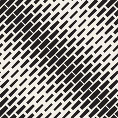 Vector Seamless Black And White Diagonal Halftone Rectangles Pattern