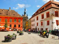 Sighisoara, bonitos colores en la ciudad de Rumanía