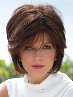 Vogue Brown Short Synthetic Fluffy Straight Capless Wig For Women
