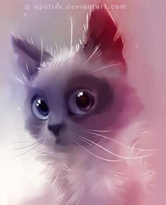 Lovely cats, digital illustrations by Rihards Donskis aka Apofis