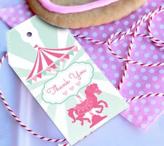 Carousel Party Theme Instantly Downloadable by SunshineParties