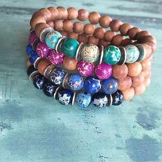 Sea sediments, sterling silver and mala sandalwood bracelets #yogabracelets #yogalover #yogaloverjewelry #malabracelets #womensfashion #menswear #yogabracelets #bohemianbracelets #couplesbracelets #stonesjewellery #giftsforhim #giftsforher #uniquegifts • A personal favourite from my Etsy shop https://www.etsy.com/uk/listing/245129841/yoga-sandalwood-womens-bracelets-stones