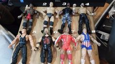 lot of 36 #wrestling #figures #WWE #WWF #TNA #ECW poor shape READ DESCRIPTION #toys #NXT