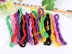Lots Mix 50 100 200PCS Charming Elastic Hair Bands Hair Accessories - Mix Colors #Unbranded