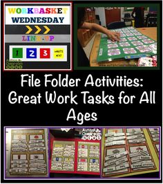 File Folder Activities-Great Work Tasks for all Ages {Workbasket Wednesday} - Autism Classroom Resources