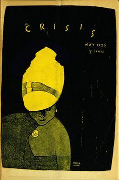 Frank Walts: The Crisis magazine cover, 1920. #illustration #blackhistorymonth #design #vintage