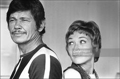 Photo d'actualité : Charles Bronson and Marlene Jobert In Paris,...