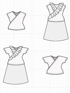 Introducing The Marsella Top and Dress PDF Pattern: Learn how to make an easy knit top with this PDF sewing pattern and step by step sewing tutorial