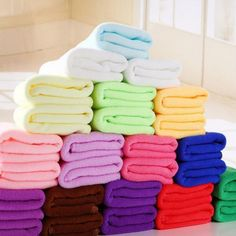 Buy 25 * Nanometer dry towel Soft Microfiber Housecleaning Super Absorbant towel Bathroom Supplies Home Textile Bed And Beyond, Face Towel, Bathroom Towels, Home Textile, Clean House, Textiles, Towel Warmer, Bamboo, Shopping