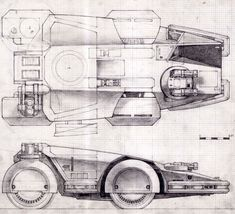 Here's a great selection of Ron Cobb's concept art for the Colonial Marine Corps' Armored Personnel Carrier.