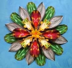 Paper Flower Wallflower Wreath by PaperArboretum on Etsy, $180.00