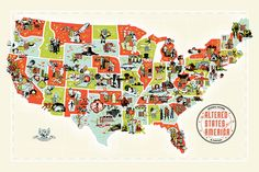 The Monsters And Aliens Of America's Best B-Movies, Mapped By State   In League of Extraordinary Gentlemen, legendary comics magus Alan Moore imagined a Victorian England in which all of the most fantastic people, places and events in fantastic British fiction had actually happened, from the death of Sherlock Holmes to the invasion of the Tripods. What would America look like if you gave it the same treatment? You'd have this: the utterly bizarre Altered States of America. The finished…