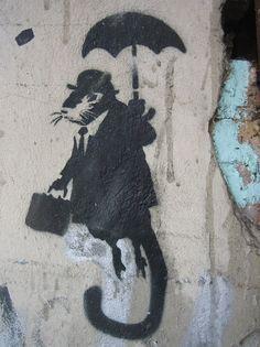 Goal - See a Banksy piece! Graffiti Kunst, Stencil Graffiti, Banksy Graffiti, Graffiti Wall Art, Mural Art, Graffiti Tattoo, Bansky, Street Art Love, Amazing Street Art