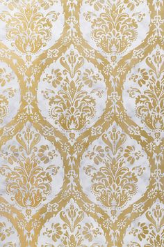 CORDOBA DAMASK, Metallic Gold and Silver, T8665, Collection Shangri-La from Thibaut
