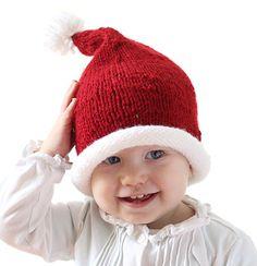 3e559026573 Stockinette Baby Santa Hat Pattern