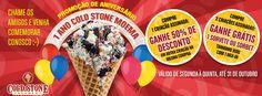 1 ano Cold Stone Creamery - loja Moema