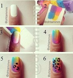 HipGirl Nail Art Supplies--Ship From USA--25ct Cosmetic Foam Wedges, Sponge for Rainbow Gradient Nail Art