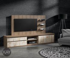 En los Muebles para la Televisión tambien podemos combinarlos con los frentes de puertas y cajones con el acabado Vintage