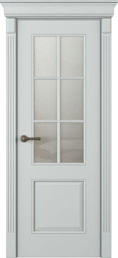 Drzwi ekskluzywne klasyczne lakierowane wewnętrzne drewniane na wymiar białe/szare LK15