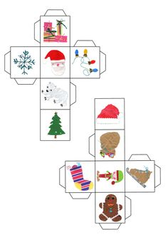 These are Christmas Story Dice. Color Activities, Activity Games, Classroom Activities, Activities For Kids, A Christmas Story, Christmas Colors, Christmas Boxes, Snowman Poem, Story Dice
