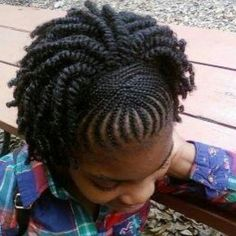 Very cute natural 2 strand twist style.
