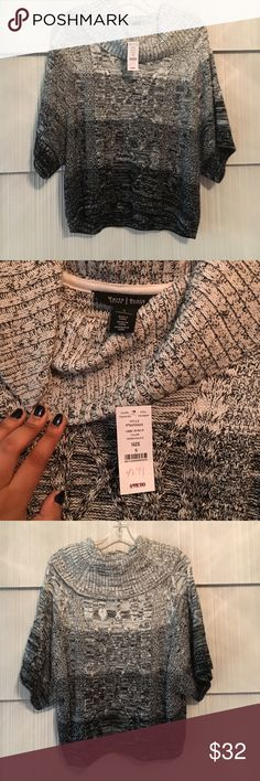 NWT White House Black Market Chunky Ombré Sweater NWT sweater in black ombré. Super cute and comfy. Perfect for fall and winter. Size S. No trades White House Black Market Sweaters Cowl & Turtlenecks