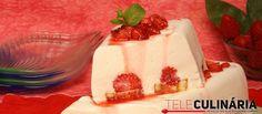 Receita de Flan de morangos com bolo. Descubra como cozinhar Flan de morangos com bolo de maneira prática e deliciosa com a Teleculinária!