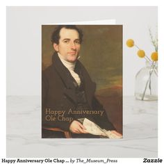 Shop Happy Anniversary Man Reading Customize Saying Card created by The_Museum_Press. Love You, My Love, Wedding Announcements, Card Reading, Happy Anniversary, Custom Greeting Cards, Thoughtful Gifts, Gentleman, Paintings