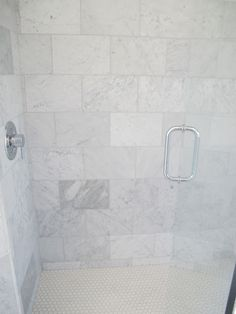 The Shower Is All Carrera Marble From Home Depot This Is My Go