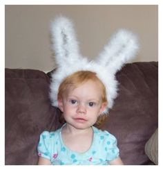 Tutorial to make super cute DIY baby bunny costume ears.