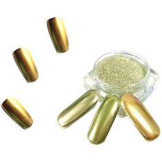 ColorWomen 1g/ Box Gold Sliver Nail Glitter Powder Shinning Nail Mirror Powder Makeup Art DIY Chrome